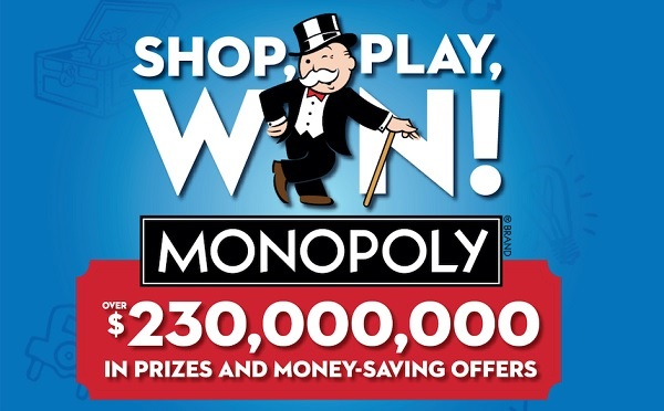 Safeway SHOP, PLAY, WIN Monopoly Game: Win $250 Million in Prizes