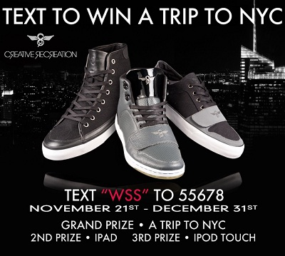 WWS: Creative Recreation Text To Win A New York City Sweepstakes