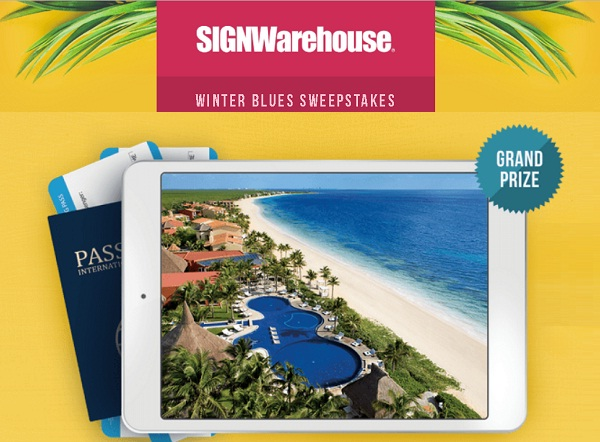 Signwarehouse.com Winter Blues Sweepstakes