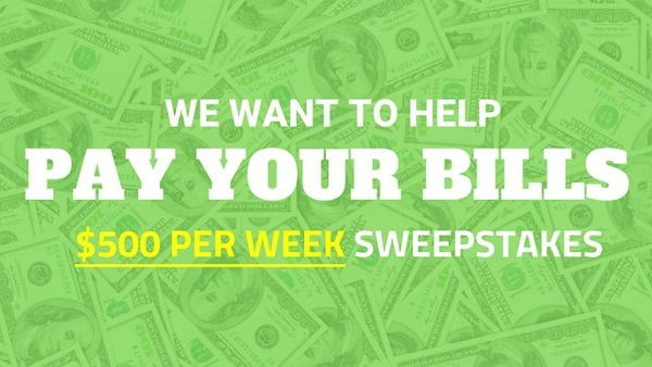 SimplySweeps.com Pay Your Bills Sweepstakes