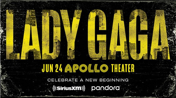 SiriusXM.com Lady Gaga at The Apollo Theater Sweepstakes