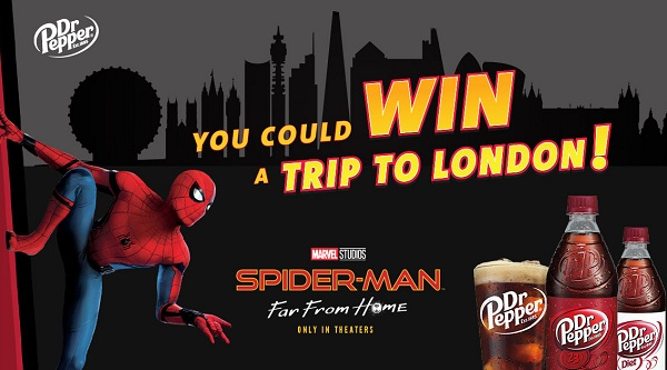 Sodexo Dr Pepper Spider-Man Far From Home Sweepstakes