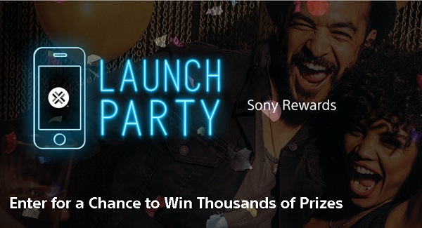 Sony Rewards Launch Party Sweepstakes