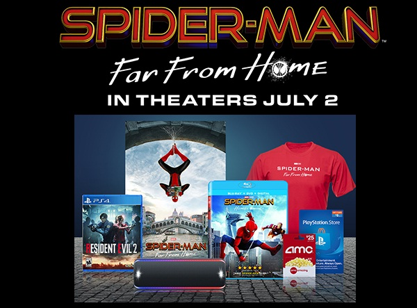 Sony Rewards Spider Man Far From Home Giveaway