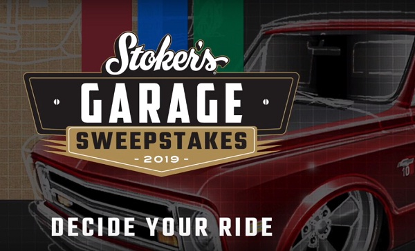 Stokers Garage Sweepstakes: Win Truck or Cash!