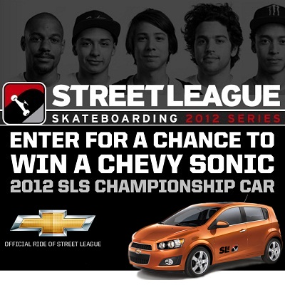 Enter to win 2012 Chevrolet Sonic