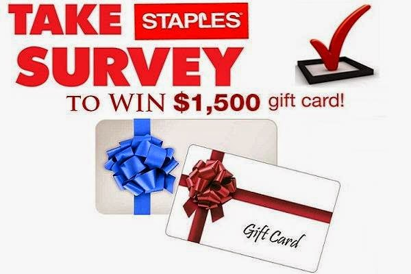 $1,500 Staples Survey Sweepstakes on Survey4bdd.ca