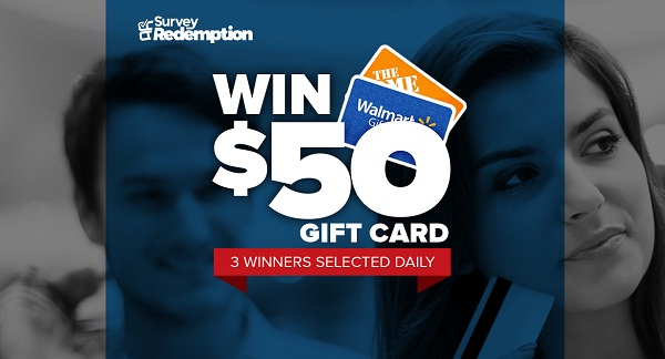 Win A $50 Gift Card Sweepstakes