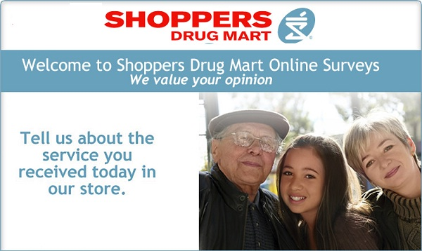 Tell Shoppers Drug Mart Feedback: Win $1000 Gift Card