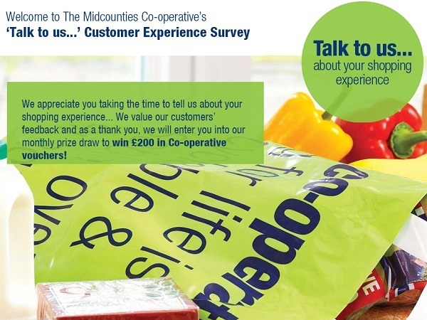 The Midcounties co-operative survey: Win £200 Gift Voucher