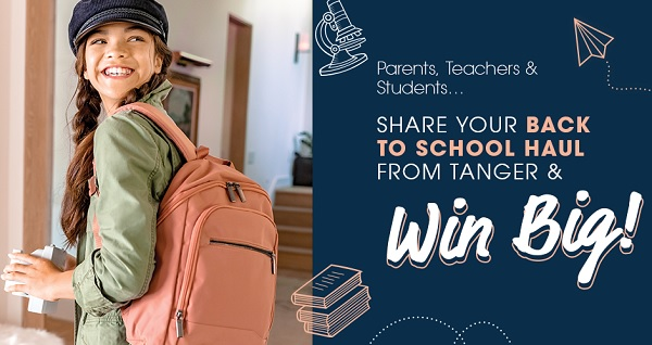 Tanger Outlet Back to School Sweepstakes 2020