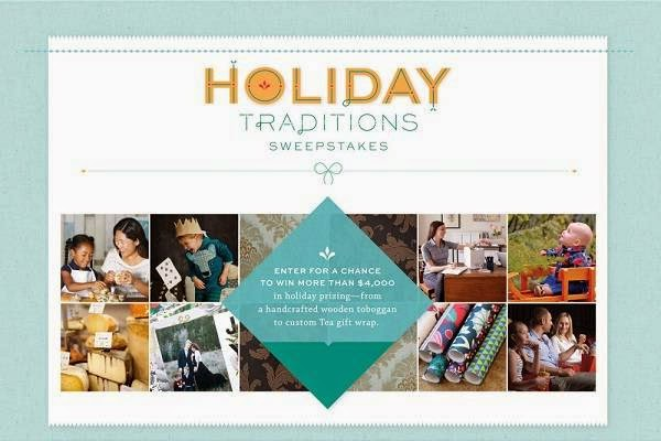 Tea Collection Holiday Traditions Sweepstakes