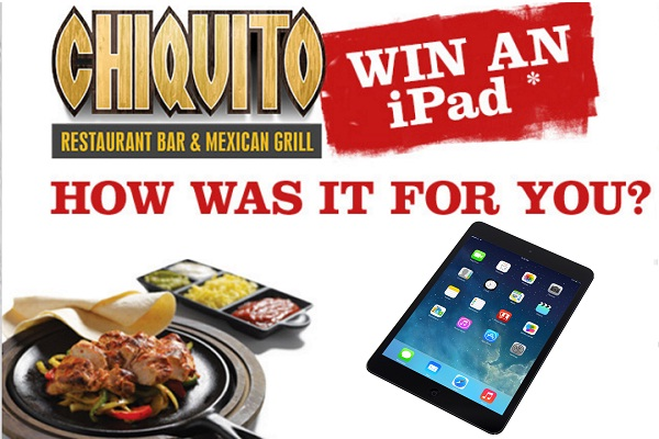 Tell Chiquito Feedback Survey to win an iPad
