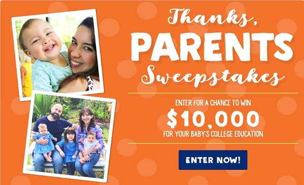 Win Money For Child's Education Sweepstakes