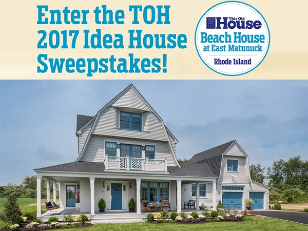This Old House Beach House at East Matunuck Sweepstakes