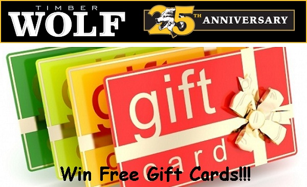 Timber Wolf Anniversary Sweepstakes