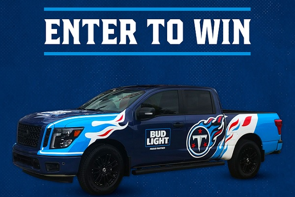 Bud Light Nissan Titan Truck Sweepstakes