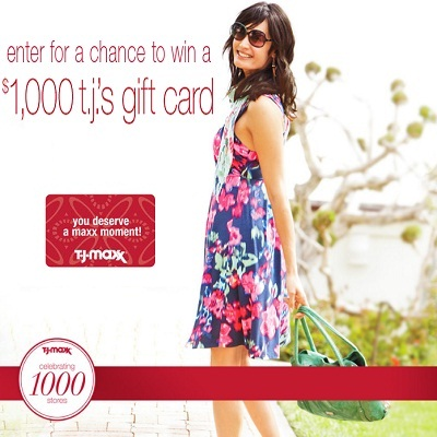 T.J. Maxx Sweepstakes for 1000th Store Celebration