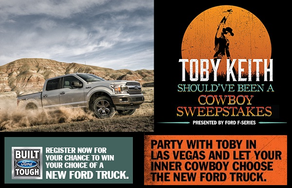 Win 2017 Ford Super Duty and tailgate tour with Toby Keith