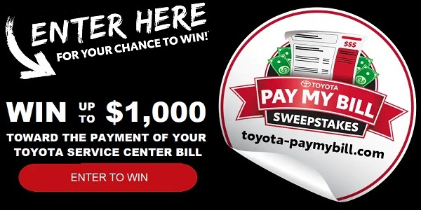 Toyota Bill Pay >> Toyota Pay My Bill Sweepstakes Win Cash Sweepstakesbible