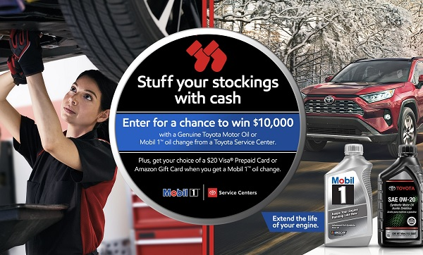 Toyota Mobil 1 Cash Sweepstakes 2019