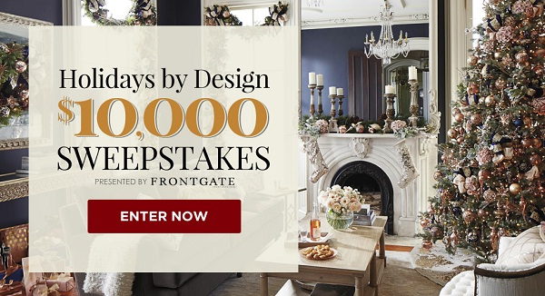 Traditional Home Holidays By Design $10,000 Sweepstakes ...