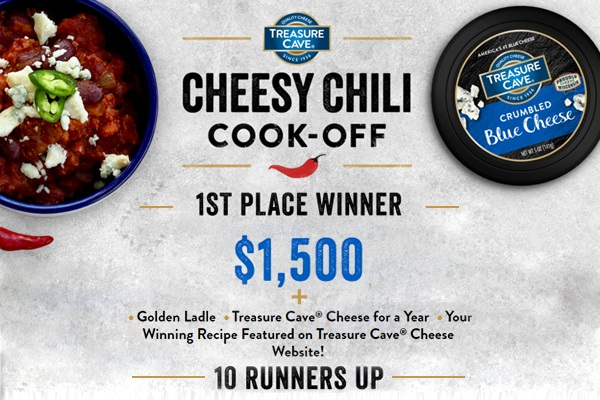 Treasure Cave Cheese Chili Cookoff Recipe Contest 2021