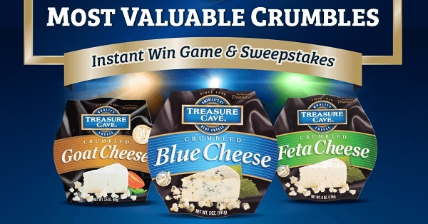 Treasure Cave Winning Crumbles Instant Win Game and Sweepstakes
