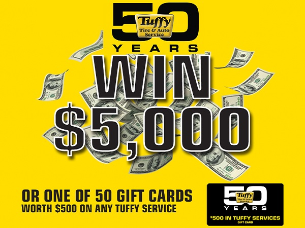 Tuffy 50th Anniversary Sweepstakes