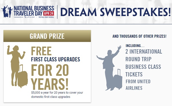 The Business Traveler Dream Sweepstakes: Win Free Airfare for a life