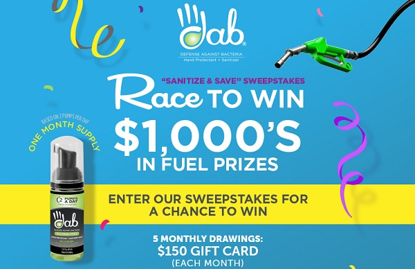 The Sanitize and Save Sweepstakes: Win Cash for Fuel!
