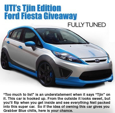 UTI's Tjin Edition Ford Fiesta Giveaway Sweeps