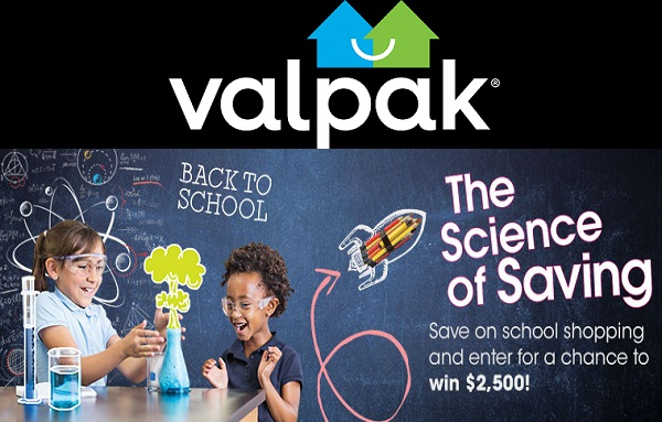 Valpak Back To School Sweepstakes: Win $2500 Cash