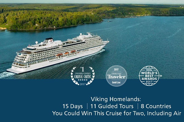 Viking Cruises 2019 Grand Euro or Homelands Sweepstakes