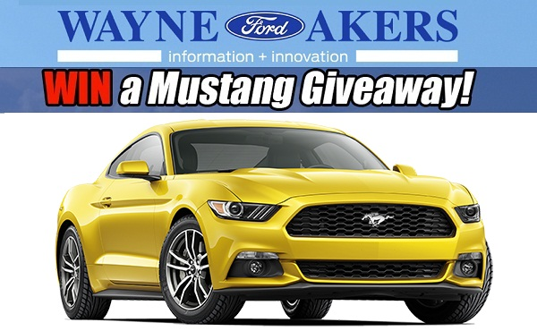 Wayneakersford.com 2020 Ford Mustang Giveaway