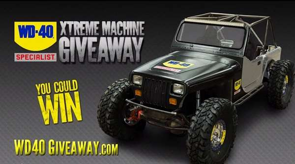 Win Modified 1990 Jeep Wrangler on wd40giveaway.com