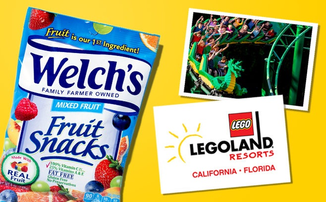 Welchsfruitsnacks.com Legoland 2019 Sweepstakes