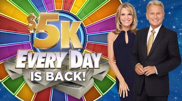 Car Sweepstakes 2017 >> WheelOfFortune.com Win $5K Everyday Sweepstakes | SweepstakesBible