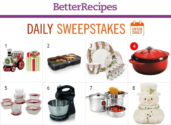 better recipes daily giveaway better recipes daily sweepstakes calendar sweepstakesbible 5772