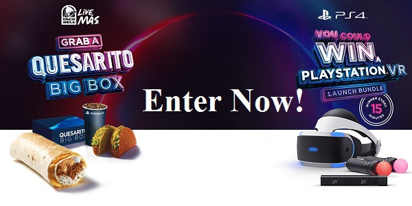 Taco Bell and PlayStation Instant Win Game
