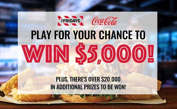Win With Fridays Sweepstakes and Instant Win Game (414 Winners)