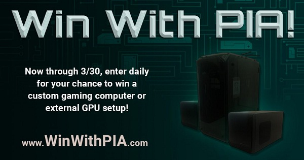 Privateinternetaccess.com Win With PIA Giveaway