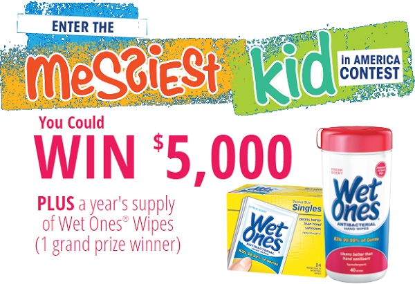 Wet Ones The Messiest Kid in America Contest