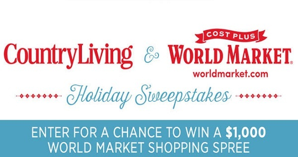 Country Living World Market Sweepstakes | SweepstakesBible