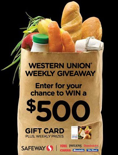 Western Union Weekly Giveaway 2013