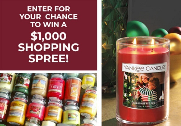 Yankee Candle Haul Sweepstakes: Win $1000 Shopping Spree