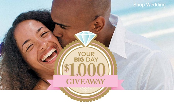 Your Big Day $1000 Giveaway: Win $1000 Every Month